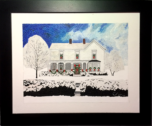 Commissioned Home Snow Scene