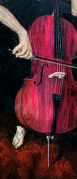 the Cellist - business card