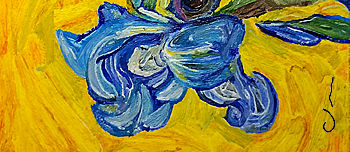 from Van Gogh's Irises - business card
