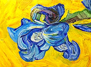 fr van Gogh Irises