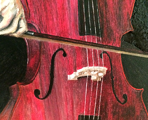 the Cellist detail