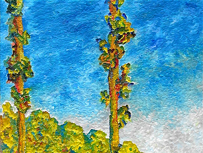 from Monet's Poplar Series - detail