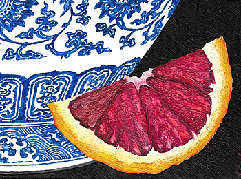 Ming Vase and Blood Orange