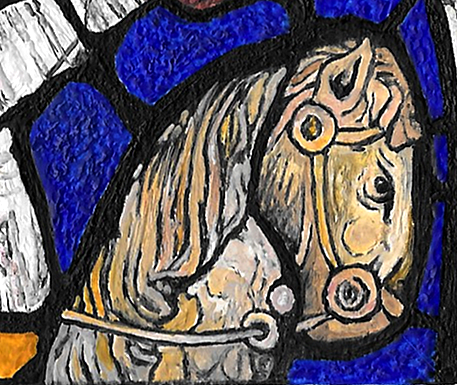 Flocks of Job - detail of horse