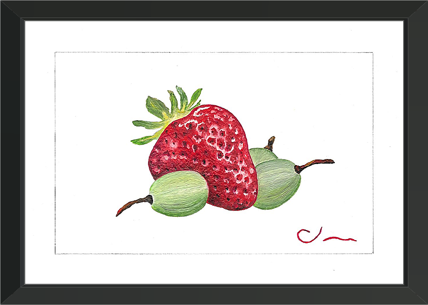 Strawberry and Grapes