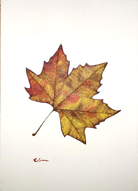 Autumn Leaf unframed