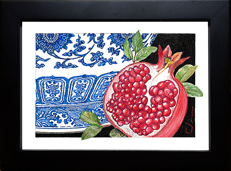 Ming Vase and Pomegranate