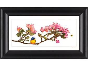bird, bee, and blossom