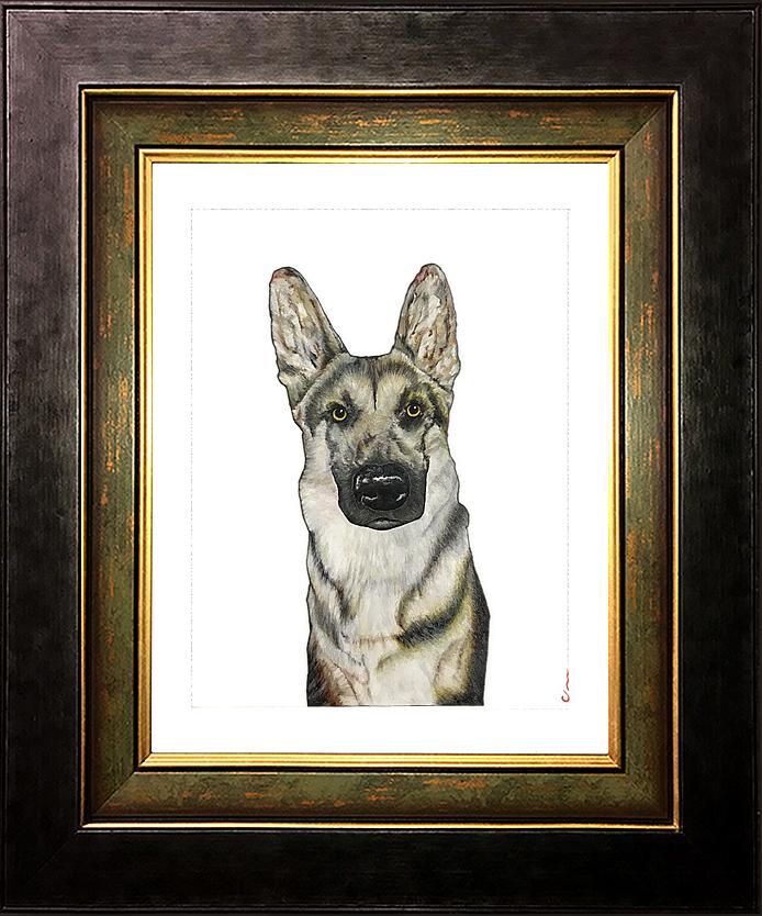 German Shepherd Framed