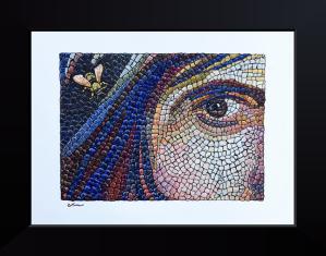 Bee on Roman Mosaic